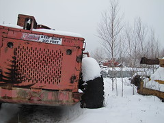 Two K4's (The Koehring Guy) Tags: trees ontario paper great lakes logs caterpillar loader k4 feller felling harvesting 3306 buncher koehring k4l k4fb kfb4