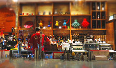 The Brew Bar in Traverse City (TC Angel) Tags: food color building beer coffee shop bar fun restaurant glasses colorful flickr bright bottles michigan cups traversecity bartender waiter active primarycolors thebrew canonpowershots100