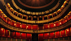 "theater ""Apollo"" (dtsortanidis) Tags: red modern canon theater stage fisheye greece apollo dimitris patras apollon dimitrios    tsortanidis"