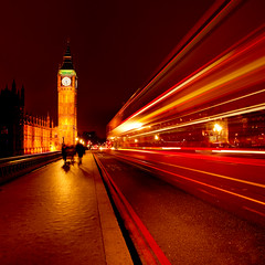 Bus to Big Ben (izzy's-photos) Tags: longexposure bus london night bigben lighttrails mygearandme mygearandmepremium mygearandmebronze mygearandmesilver