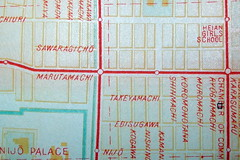 Kyoto 1949 (davecito) Tags: red japan kyoto map cities 1940s planning cartography urbanplanning postwar drafting streetmap citymap oldmaps historiccities formercapitals occupationera jigyokudo