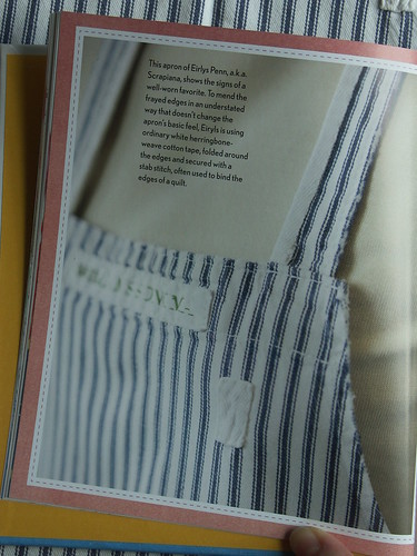 Mended apron