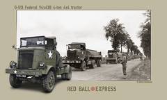 Red Ball Express ((The) Appleman) Tags: road tractor france truck military wwii transportation ww2 mp convoy federal worldwar ordnance autocar redballexpress fotocreations 4ton novaman396 theappleman