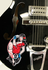 bettie (robolove3000) Tags: black wisconsin sticker rat wolf guitar hotrod decal pinup gretsch ratfink stoughtonwi ducksoupsigns 6088737341