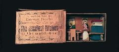 """Souvenir """"Matchbox"""" Curiosity (steveartist) Tags: art ephemera printedephemera matchboxart prewwiart smallephemera"""
