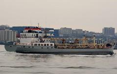 M/V Red Hook (MJ_100) Tags: city nyc usa newyork america river boat us ship state vessel hudsonriver dep redhook mv departmentofenvironmentalprotection mvredhook