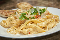 Fettucine with Shrimp & Creamy Tomato Sauce (MontyB Photography) Tags: food pasta homemade goodeats 2014 foodphotography montybphotography