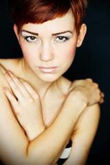 Anna... (akal_flickr) Tags: red hair studio femaleportrait innamoramento