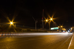 Roads of London (10 of 18) (johnlinford) Tags: city longexposure england urban london night landscape lights poplar unitedkingdom 7d gb docklands canonefs1022 canoneos7d