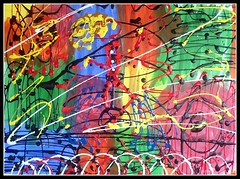 Rolling on the High Wire 2 (joe_gergen) Tags: abstract art painting high wire acrylic circus