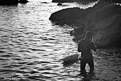 Corfu (Eleanna Kounoupa) Tags: sea blackandwhite bw water seascapes greece swimmer diver corfu ionianislands   blackwhitephotos     ermones
