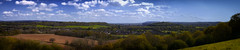 Surrey Panorama (martin_rees) Tags: uk england panorama clouds landscape view surrey hills fields nik guildford chilworth stmarthashill colorefex