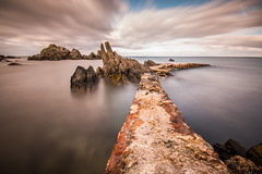 The Pier (Mr Bultitude) Tags: pier stroove beach shrove old rusty long exposure inishowen donegal ireland coastal seascape landscape irish