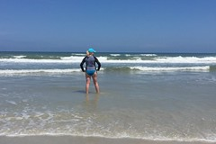 Wave Rider (WindJammer Photo) Tags: ocean beach water beautiful beauty sand gorgeous blonde april wife daytona iphone 2016