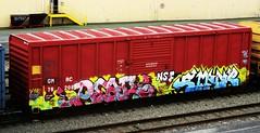 pear - emone (timetomakethepasta) Tags: train graffiti pear boxcar d30 freight nsf thr emone wyse wge n4n kuthe gmrc
