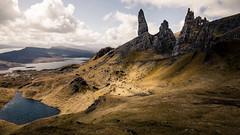 The lone wanderer (hermez) Tags: travel mountains skye landscape scotland europe unitedkingdom rugged oldmanofstorr canoneos5dmk2 canonef16354lisusm scotland2016