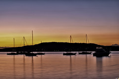 Daybreak at Tascott (Merrillie) Tags: longexposure pink sea sky water sunrise reflections boats dawn bay nikon marine scenery waterfront silhouettes australia views nsw daybreak tascott brisbanewater seaviews d5500 nswcentralcoast centralcoastnsw