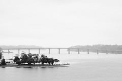 A quiet morning (Benny2006) Tags: bridge tree water island blackwhite cloudy maryland annapolis