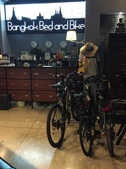 Bangkok, Thailand (Quench Your Eyes) Tags: travel thailand hostel asia southeastasia bangkok thai citycenter biketour mbkcenter shoppingarea cyclisthostel bangkokbedandbike