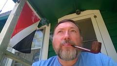 Afternoon Smoke at my River House (Professor Jeremiah) Tags: pipe smoking smoker briar pipesmoking