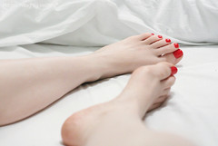 A hint of red (mayasnaughtysecrets) Tags: woman feet beautiful female mom foot ginger toes married legs femme redhead wife manicure milf prettyfeet alabasterskin redtoes