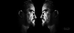 Self Portrait in Black and White (alexander.dischoe) Tags: blackandwhite bw man face blackwhite nikon gesicht mann schwarzweiss spiegelung 18200mm nikkor18200mm d7100 nikond7100