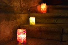 Kerzen auf den Domstufen in Feldkirch (Katholische Kirche Vorarlberg) Tags: stairs feldkirch candle dom kerze treppe stufe