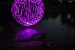 On the rocks. (Nikolas Fotos) Tags: longexposure lightpainting reflection orb sphere lichtmalerei lightart longexposurephotography llightpainting lightpaintingphotography peintureclaire
