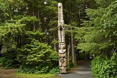 Totem in Sitka, Alaska (Pejasar) Tags: green alaska forest woods rainforest totem sitka