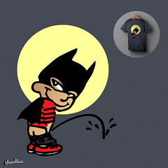 BAT BOY (kooky love) Tags: car sticker funny vinyl bumper 80s batman threadless 90s badboy batboy