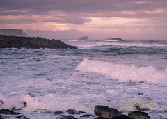 Sunrise at the Mouth of the Coquille River.jpg (Eye of G Photography) Tags: usa oregon places pacificocean northamerica bandon rockformations skyclouds