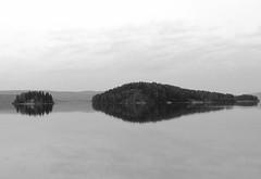 speglar (Bettysbilder) Tags: blackandwhite water islands vatten svartvitt ar