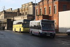 Exeter Rail Replacement (lazy south) Tags: uk england bus volvo coach cornwall floor britain low replacement first rail line devon exeter solo mid coaches minibus jonckheere flh deauville 990 avocet optare b10m xya 53108 eo02