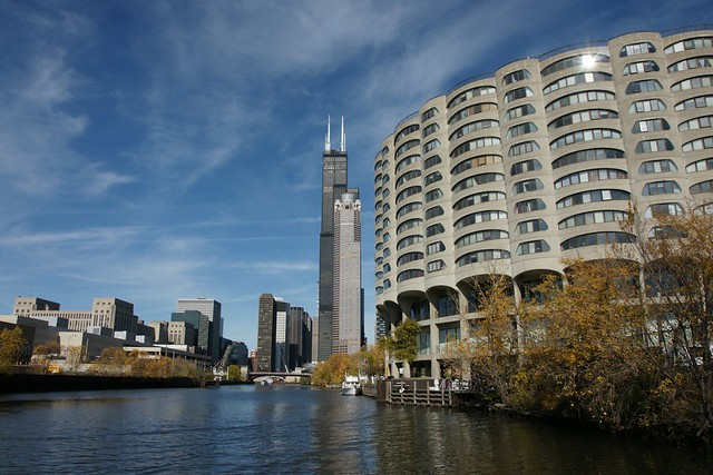 SEARS Tower from the river, Chicago