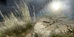 The New River (swatzo) Tags: reflection water lumix michigan panasonic handcolored lx5