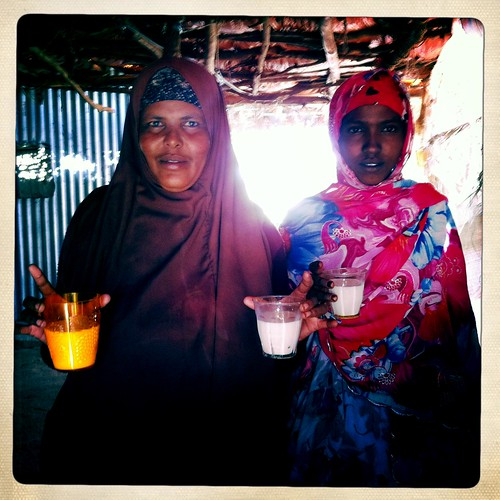 Glass of milk in Lasadacwo -  Somaliland thru Iphone Hipstamatic