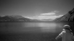 Lake Wakatipu / Queenstown / New Zealand (Matthew McCutcheon) Tags: newzealand bw lake water matt movement mac aperture matthew olympus nz quinn queenstown quinny lakewakatipu quintin infared ep1 bwf mccutcheon ir72 f72