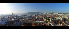 Panorama of Prague under the snow (lathuy) Tags: bridge prague praha pont charlesiv czeck tchquie