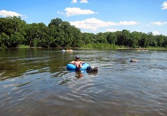 tubing on the delaware, summer 2011 (Rachel Rampleman) Tags: pennsylvania tubing delawareriver pointpleasant