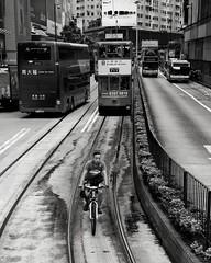 . (antoniogs) Tags: street bw hongkong nikon tram d3s
