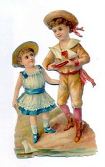 Victorian scrap of BOY and GIRL with Sailing Boats (oldsailro) Tags: park old boy sea summer people sun lake playing beach water pool girl sunshine youth sailboat race vintage children fun toy boats boat miniature wooden pond model waves sailing ship child with time yacht antique group victorian boom mat regatta hull spectators scrap watercraft adolescence keel fashioned