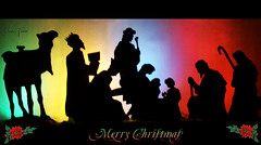 Oh holy night! - Explore (Aum Kleem) Tags: xmas silhouette lights noel yule colourful christmaseve merrychristmas christmastime christmasday yuletide jesuschrist seasonsgreetings feliznavidad christmasnight thenativity christmastide ohholynight happynativity aumkleem