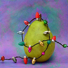 A Very Peary Christmas (njk1951) Tags: christmas holiday texture lights squareformat pear hohoho blinkagain blinkagainfrontpage