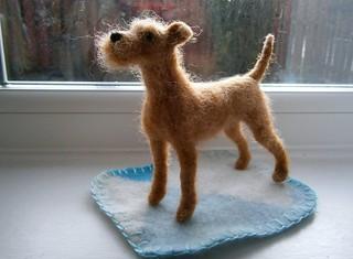 needle felted irish terrier