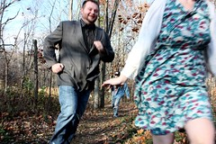 (NicDanger) Tags: november autumn fall love nature outdoors happy engagement woods couple zombie indiana preserve 2011 nicdanger rossrun nicolesisneros mikhailnew coreykotkoski kassigraves