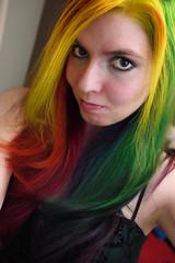 Rainbow Waves (rainbow-hair) Tags: hairdye manicpanic manicpanichothotpink manicpanicvampirered manicpanicpurplehaze manicpanicshockingblue manicpanicelectricbanana