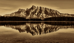 Reflected Rundle (Jeff Clow) Tags: mountrundle albertacanada banffnationalpark twojacklake