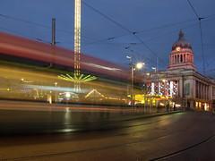 Old Market Square, Nottingham (DaveKav) Tags: christmas nottingham motion blur tram olympus nottinghamshire oldmarketsquare councilhouse e510