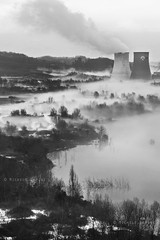 on my way back home (...utopiacere... - [Michele Lapini]) Tags: trees italy lake fog alberi landscape lago countryside italia noir grigio central campagna pollution toscana nebbia centrale cavriglia valdarno rurale sbarbara michelelapini