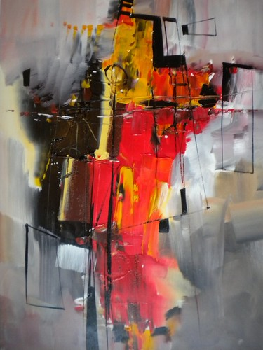 City Structure - Painting - Abstract